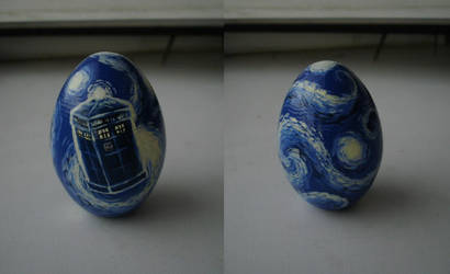 Vincent van Gogh egg by DalekJoy