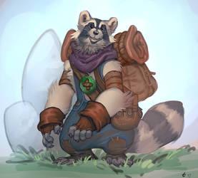 Raccoon by manabreakfast