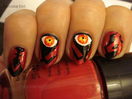 Star wars Darth Maul nails by naniii