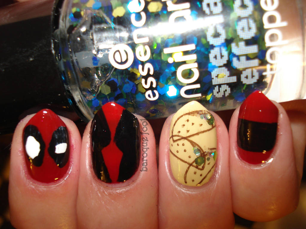 Deadpool nails by naniii