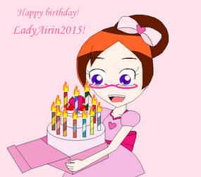 Happy Birthday! LadyAirin2015 by zcx2345