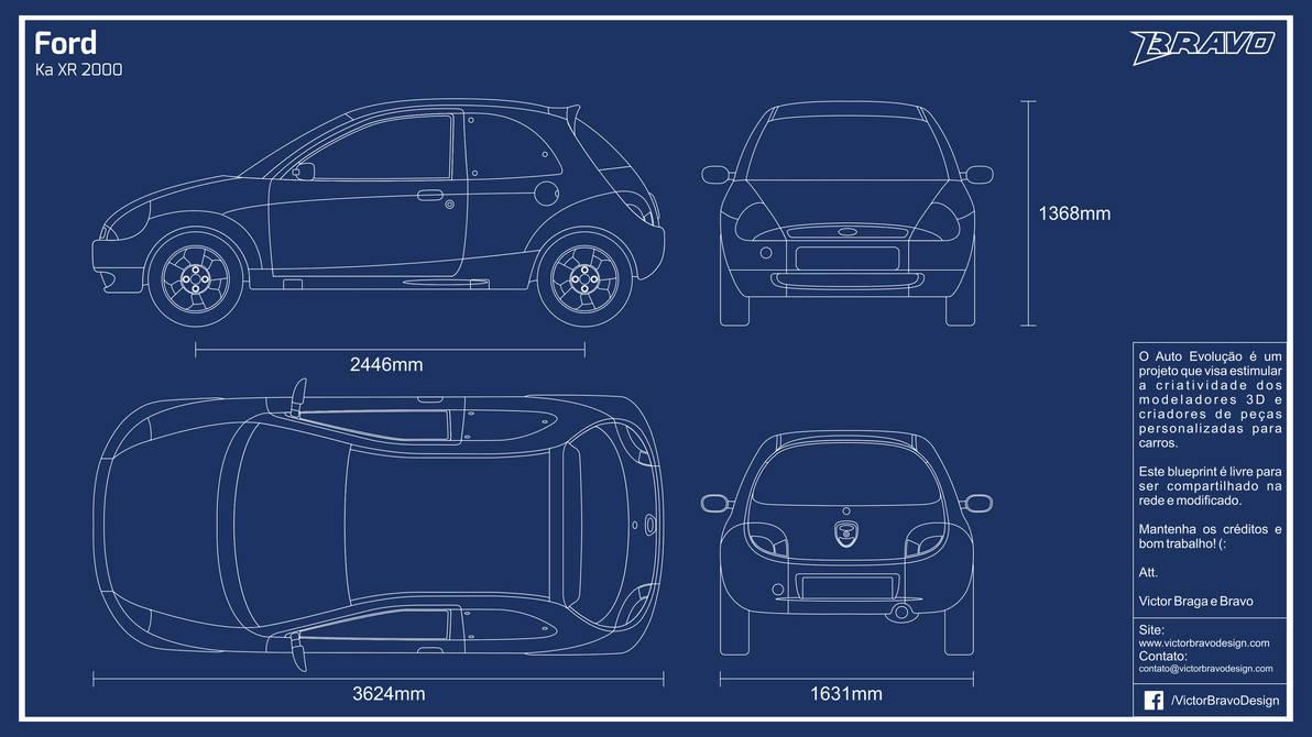 Blueprint Ford Ka Xr  By Victorbravodesign