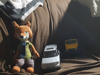 A fox, a Land Rover, and a Jeep by autoknowitall98