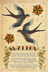 Swallow Tattoos by AlixBranwyn
