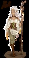 Aleah (More or less random character doodle) by SafirasArt