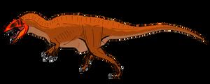 Acrocanthosaurus atokensis by BrooksLeibee