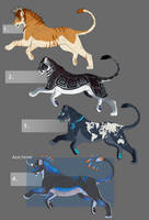 Big Cat Design Sales 2 (All sold) by NadiavanderDonk