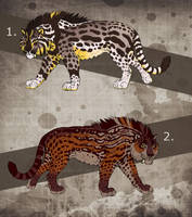 Fantasy Saber Cats - CLOSED! by NadiavanderDonk