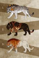 Fantasy Saber Cats 2 - AUCTION! - CLOSED! by NadiavanderDonk