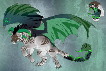 Manticore character design 2 - CLOSED! by NadiavanderDonk