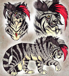 Pirate Tiger - Character Design AUCTION (CLOSED) by NadiavanderDonk