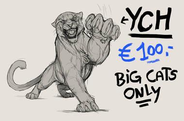 YCH - Big Cat - SOLD! by NadiavanderDonk