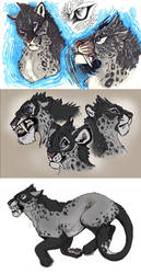 Colored Sketch Page Commission - Hail/Accord by NadiavanderDonk