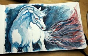 Winter Horse by NadiavanderDonk