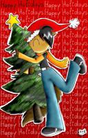 Hugging the Christams Tree by RedAkai