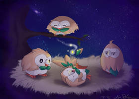 A Nest of Rowlets by Abe88