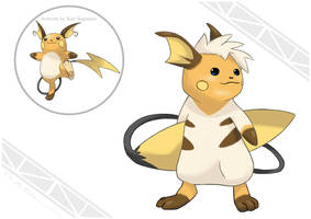 Raichu Alola Form (fix) by Abe88