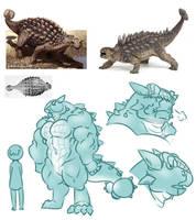 Ankylosaurus by WonderfulGarden
