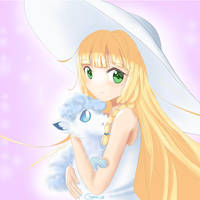 Lillie and Snowy (Vulpix) by chaesu