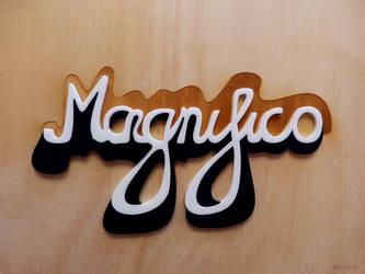 Magnifico Lasercut Lettering by cranial-bore