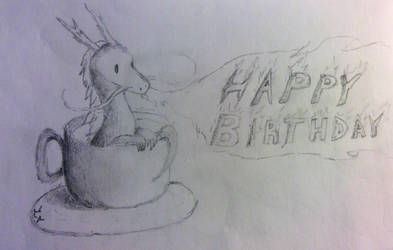 Dragon Birthday Card by BrightNBlueFlames