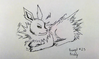 Inktober - No. 25, Prickly by BrightNBlueFlames