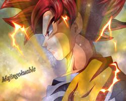 Goku SSJ God by Majingokuable