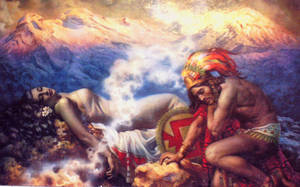 Popocatepetl and Iztaccihuatl by Legadema