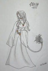 Unicorn Priestess by Legadema