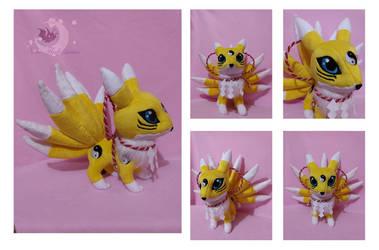 Custom Plush chibi Kyubimon by Legadema