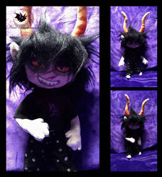 Homestuck Gamzee Makara custom possable doll by Legadema