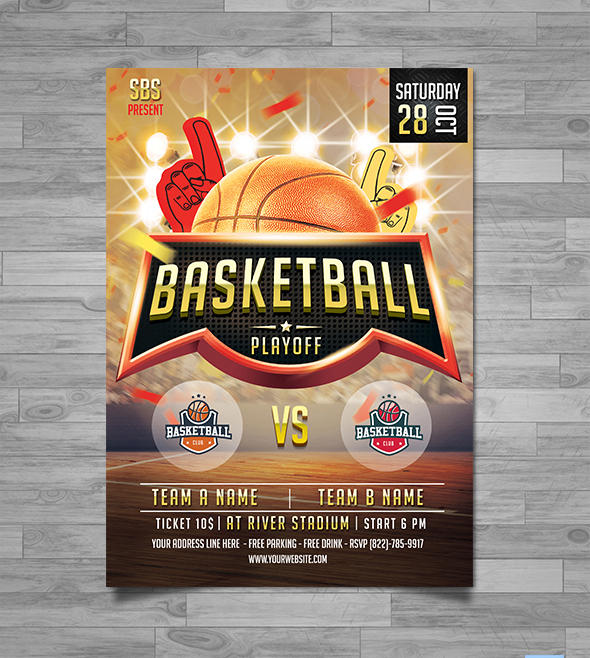 basketball playoff game flyer poster template by yudha sbs on deviantart
