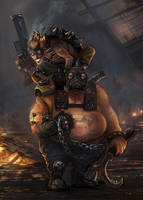 Junkrat and Roadhog by GremlinCat