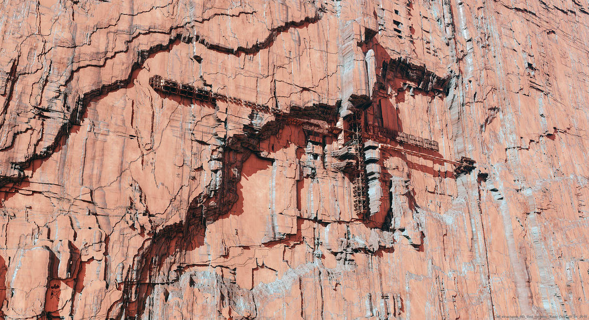 Cliff structures - red version by KadriOzel