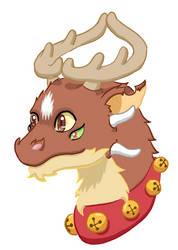 Jingle the Christmas Dragon by LaqueusAxolotl