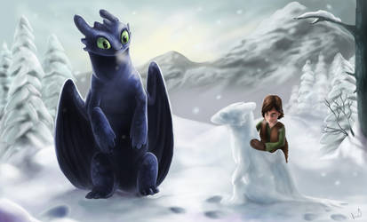 Snowman Toothless by Allagar