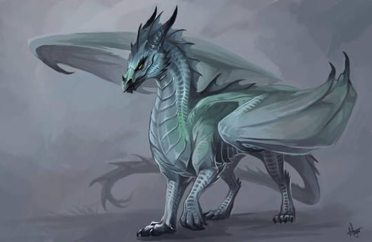 Winter dragoness by Allagar