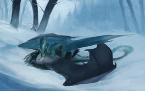 Lounging in the snow by Allagar
