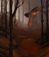 Arrival of autumn dragon by Allagar