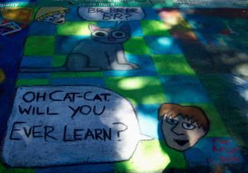 Cat-Cat Chalk-Chalk by scripturemonkey