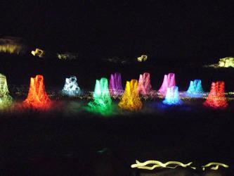 lights dancing by wolfyknight