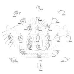 Hand Study Angle Chart 6 by Shadowcross