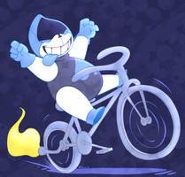 Lancer on his Bike by ToxicSoul77