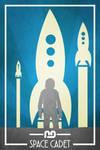 Space Cadet Retro Poster by nerdkid56