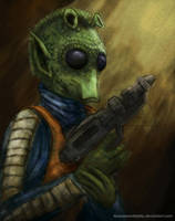 Greedo Star Wars by Fluorescentteddy