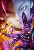 Dragon Ball Z, Battle of Gods by Fluorescentteddy