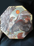 Red Tailed Hawks Drum by Shadowind