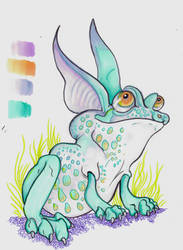 Inkotober #2 FrogRabbit by Shadowind