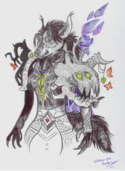 Inktober 2018 Worgen Druid by Shadowind