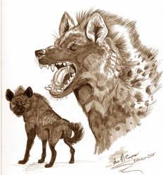 Inktober 2018 Hyenas by Shadowind